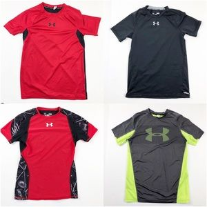 Under Armour Fitted Shirt Bundle of 4 Size Large
